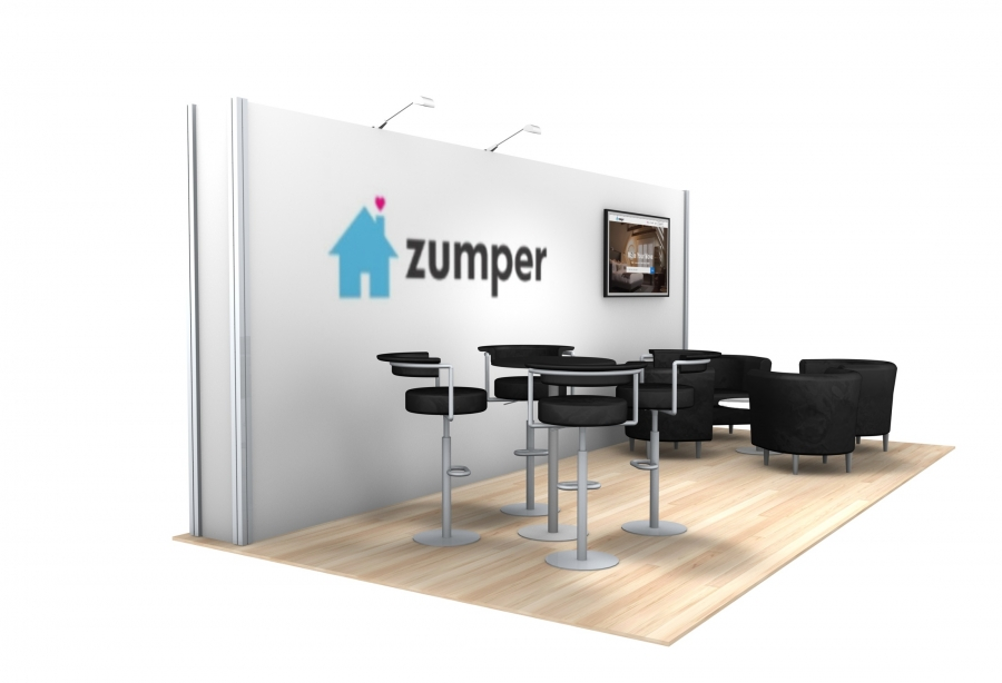 10x20 Turn-Key Trade Show Booth Design #1407